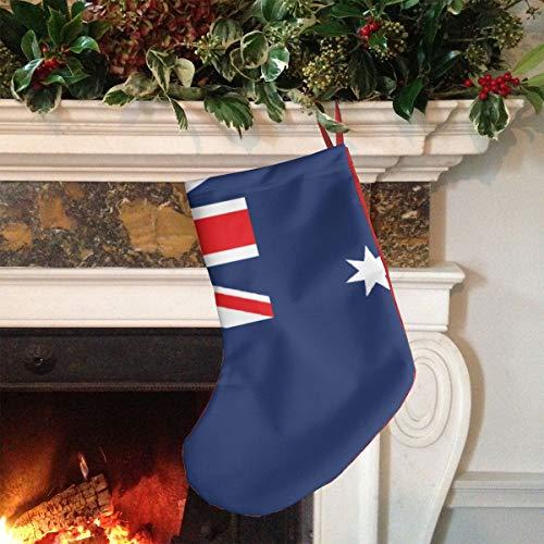 RIRIBOC (大きい)クリスマスソックス クリスマスプレゼント袋 Australia Flag ラッピング ギフト袋 クリスマスツリーに飾り 可愛い袋 Christmas Stockings 18