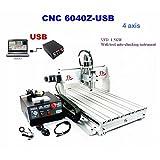 CNC 6040Z 4軸 フライス盤 デスクトップ彫刻機 回転軸つき USBポート DIY Desktop Engraving Machine Router