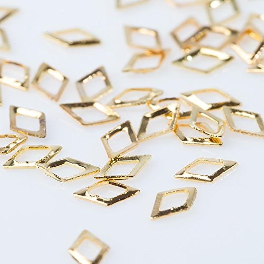 スタッズ メタルパーツ【パールストーン通販MK】ダイヤモンド くり抜き 約50粒(3mm)厳選 パーツ 手作り アクセサリー ネイル
