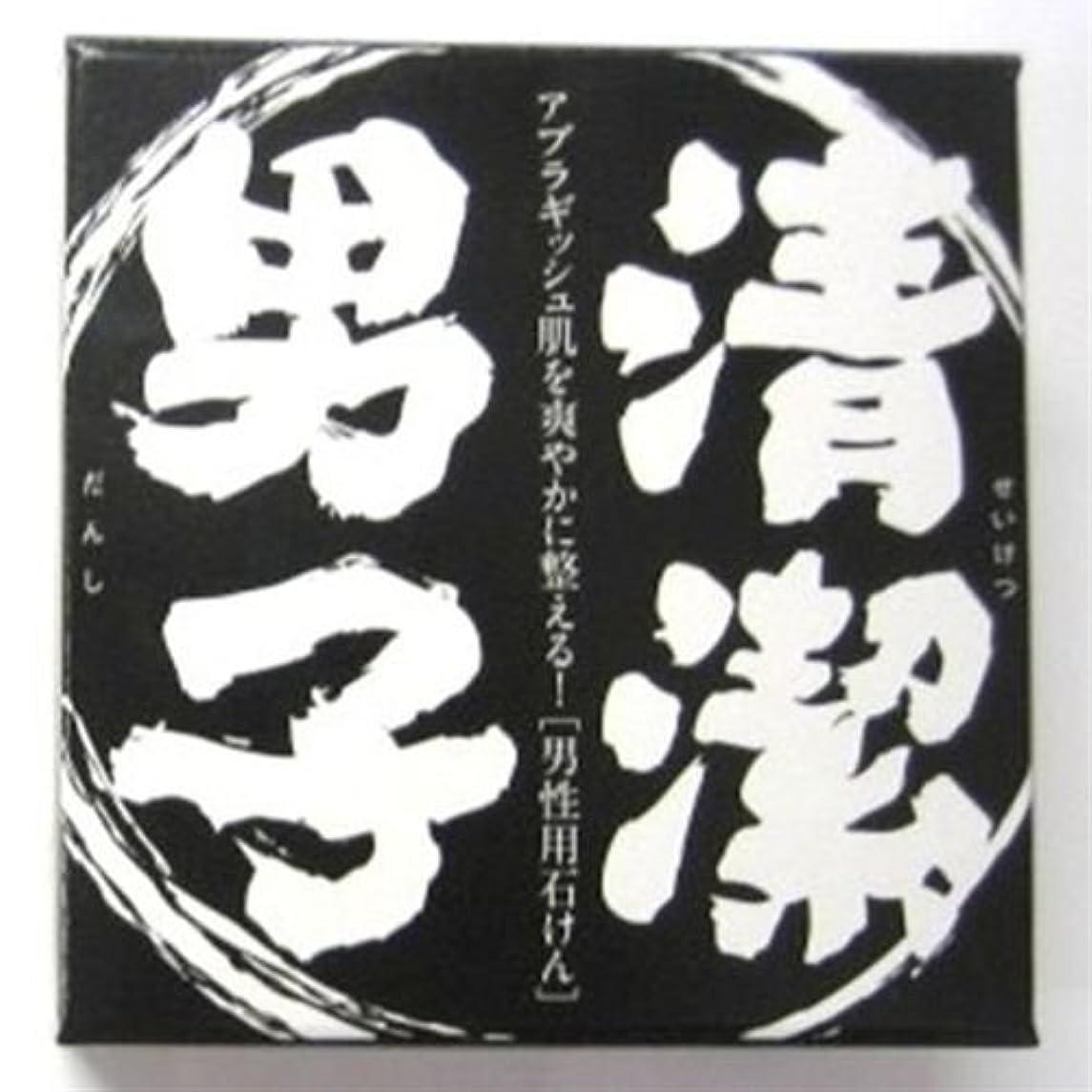 ナプキングラフィック解放するうにの尾塚水産 化粧石鹸 清潔男子 100g