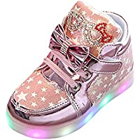 Luminous Sneakers OVERMAL Baby Fashion Sneakers Star Luminous Child Casual Colorful Light Shoes