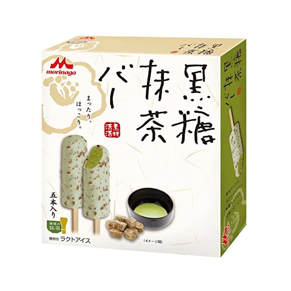 森永乳業 黒糖抹茶バー 55ml×5本×8個の商品画像