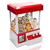 自宅や会社での息抜きに アミューズメント やればハマる BGMモード搭載で本格的 景品 専用コイン24枚付き ゲームセンター 卓上UFOキャッチャー