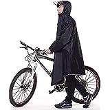 Cbright レインコート レインスーツ 自転車 バイク 雨具 ロング ポンチョ通湿性 レインウェア 男女兼用 通勤通学 フリーサイズ 軽量 完全防水 収納袋付き