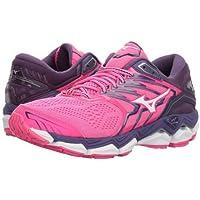 Mizuno(ミズノ) レディース 女性用 シューズ 靴 スニーカー 運動靴 Wave Horizon 2 - Pink Glo/White [並行輸入品]