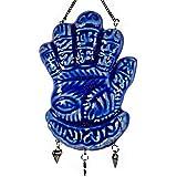 """ホーム祝福Hand Made Hamsa Fatima Hand Evil Blue Eye石膏セラミックIslamicイスラム教徒アッラーイスラム教コーランドア壁Hanging 7.8""""ホームインテリア( 501)"""