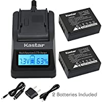 Kastar充電器、バッテリーfor np-w126–2np-w126W126