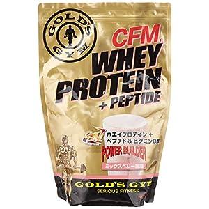GOLD\'S GYM ホエイプロテイン プラス ペプチド&ビタミンB ミックスベリー900g