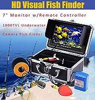 7インチ水中魚群探知機HD水中カメラTFTカラーディスプレイCCDとHD 1000TVLカメラ,50M