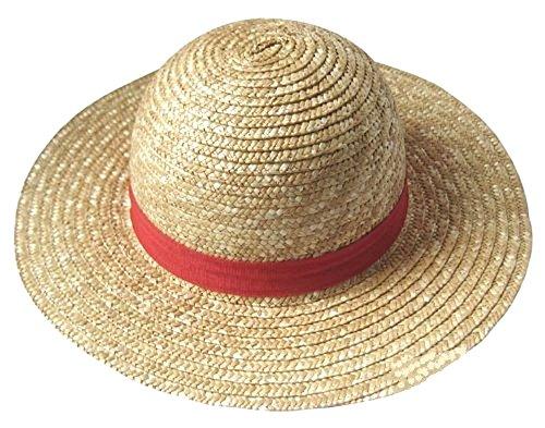 【ノーブランド品】 麦わら帽子 ワンピース ONE PIECE ルフィ コスプレ衣装用 道具 ポートガス D エース 火拳のエース 帽子 オレンジ コスチューム (麦わらの帽子)