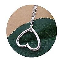 上品なハートのネックレス、愛心臓ネックレス 日常的な宝石、ミニマリスト・シンプルネックレス 花嫁介添人の贈り物