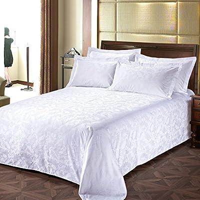 CHENGYI 高密度コットン5つ星ホテルジャカードベッドシーツシングルピースホテルホワイトベッドスプレッドベッドライニング ( 色 : B , サイズ さいず : 270*260cm )