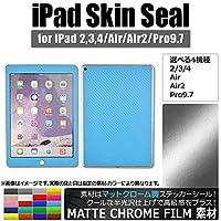 AP iPadスキンシール マットクローム調 背面タイプ2 保護やキズ隠しに! ライトゴールド 2/3/4 AP-MTCR1216-LGD-234