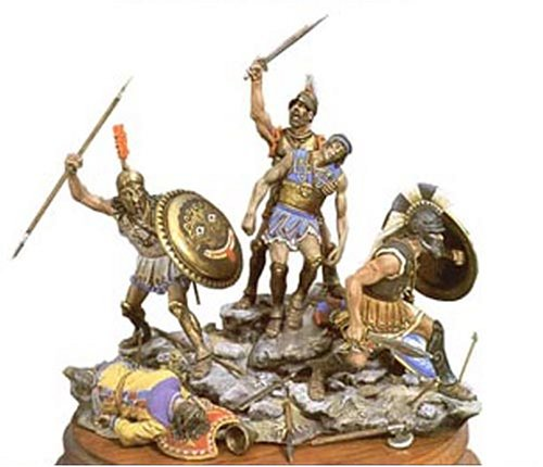 アンドレアミニチュアズ SG-S6 Spartan's last stand (480 BC)