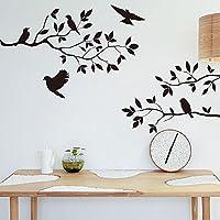 ウォールステッカーツリーDiyリムーバブルアートビニールの壁のステッカーの装飾の壁画デカール木の鳥の家の装飾ウォールアートブラック、ブラック