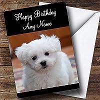 Bichon Frise Dog Personalized Birthday Greetingsカード