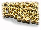 タングステン・丸型(穴は標準タイプ)フライタイイング用ビーズ (3.5mm)