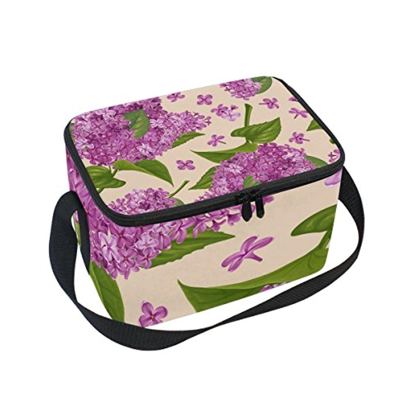 動揺させる小売応じるクーラーバッグ クーラーボックス ソフトクーラ 冷蔵ボックス キャンプ用品 ライラック花柄 保冷保温 大容量 肩掛け お花見 アウトドア