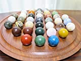Natural Stones ソリティア 紫檀 丸玉 60mm(天然石のボードゲーム)