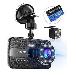 【改良版32Gカード付き】 ドライブレコーダー 前後カメラ 1080PフルHD 1800万画素 ドラレコ 170°広視野角 SONYセンサー/レンズ 常時録画 G-sensor WDR (ブラック)