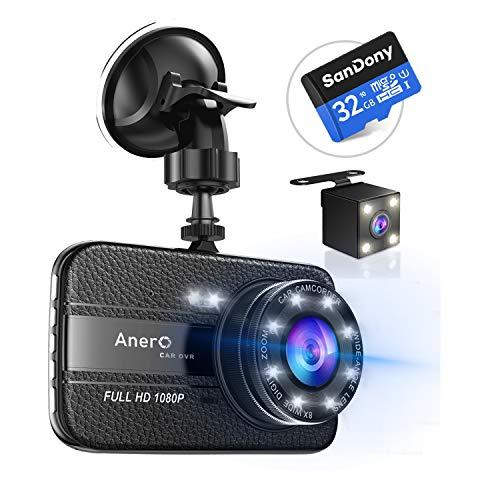 【改良版32Gカード付き】 ドライブレコーダー 前後カメラ ...