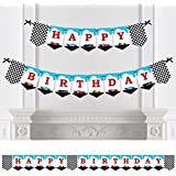 Let's Go Racing - Racecar - Birthday Party Bunting Banner - Race Car Birthday Party Decorations - Happy Birthday [並行輸入品]