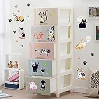 樱のホーム 動物の猫のパーティー取り外し可能なPVC 壁のステッカーテレビの背景赤ちゃんのベッドルーム 壁の装飾