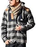 (オールグッド)allgood カバーオール メンズ フード付シャツジャケット (L,グレー)