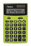 アスカ 電卓 12桁 チルトあり C1235G グリーン