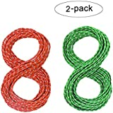 (Red,Green) - AIDIER Reflective Nylon Cord, Tent Guyline Rope for Camping Tent, Outdoor Packaging, 15m