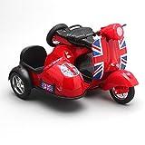 Liebeye ミニ合金のシミュレーションモーター サイクルモデル 子供車のおもちゃ引き出します 知的フラッシュ自動車金型 クリスマスギフト
