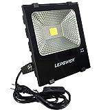 LED投光器 フラッドライト 作業灯 10W 家庭用でもOK 屋外照明 撮影用 ポータブル 昼白色 スイッチ付き IP66防水防塵 18ヶ月保証 (昼白色)