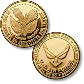 Victoryアメリカ空軍エンブレムMerlinGold Challenge Coin