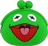 山二(Yamani) カーミット シリコン がまぐち グリーン H9×W10×D4cm Sesame Street Kermit The Frog 8923