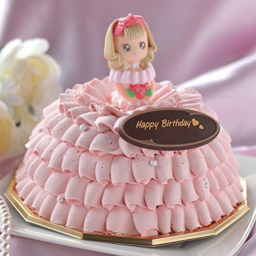 バースデー ドレス アイスケーキ ( プリンセスローズ ) 5号 ( お誕生日 ・ お祝い ) (チョコレート&マンゴーシャーベット)