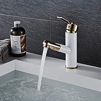 プルアウトゴールデン/ブラック/Orb/白のキッチンの蛇口黄金と白の銅シンクキッチンミキサー蛇口まわり浴室の洗面台の蛇口、