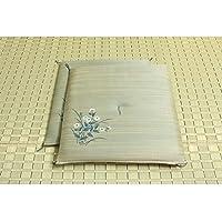 純国産/日本製 捺染返し い草座布団 『小花 2枚組』 ブルー 約55×55cm×2P