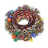 Dovewill 多彩 ポンポン 装飾 ブレイド ジャカード リボン トリム 6サイズ選ぶ - 60mm