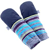mimiTENS Classic Long Sleeve Warm Winter Mittens (Size 3-4, Black) by mimiTENS