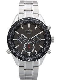 [エルジン]ELGIN 腕時計 世界4地域5局 9都市対応 電波ソーラー ワールド5 日本製ムーブ オールステンレス 100M防水 ブラック FK1412S-BP メンズ 腕時計