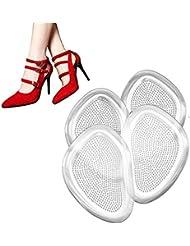 足裏保護パッド つま先保護カバー インソール前ズレ防止 ジェルパッド シリコンクッション つま先の痛み緩和 疲れ緩和 足裏マッサージ 靴ずれ防止パッド 柔らかい 2足分 4枚入り