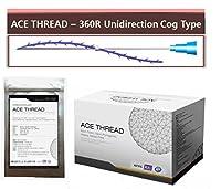 【並行輸入】 ACE PDO Thread lift Korea (リフティング糸 / メソン / 漢方病院針 / 鍼 ) / Ultra V-Lift / Face Lift - 3D-360R Unidirection Cog Type (100pcs) (23G60)
