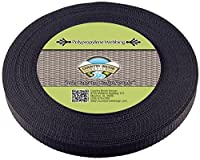 Country Brook Designテつョ 5/8 Inch Black Heavy Polypro Webbing, 25 Yards by Country Brook Design