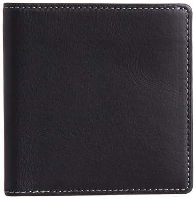 [スィンリー] THINly 財布 メンズ 二つ折り 薄型 日本製 EWSLBS02 BK (ブラック)