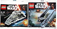 Lego Star Wars Kylo Ren's Command Shuttle & First Order Star Destroyer Fighter Starship set - Polybag 30277 Force Awakens edition Building Set