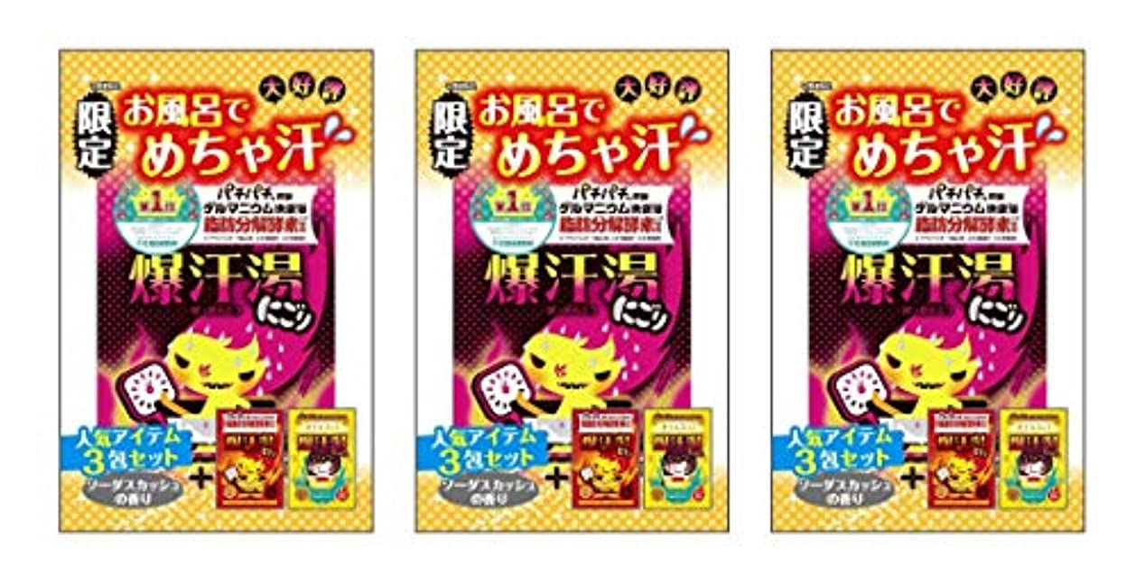 【まとめ売り】数量限定 爆汗湯 ランキング1位記念3包セット×3袋