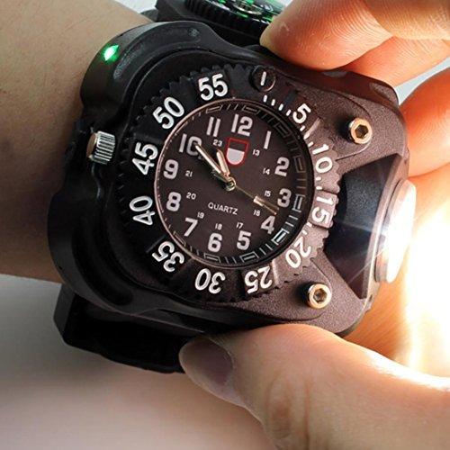 Aupooe 充電タイプ LED懐中電灯 3W 強力 ライト...