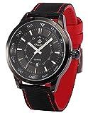 New ORKINA (オルキナ) ファッション アーミー スポーツ 日付表示 ナイロン バンド メンズ クォーツ腕時計ORK188