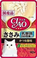 チャオパウチ乳酸菌入りささみかつお節味40g【おまとめ6個セット】
