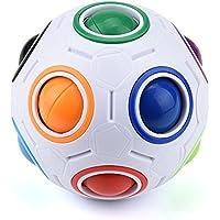 マジックレインボーボールsacow LEDライト応力RelieverレインボーマジックボールNightキューブツイストパズルおもちゃ大人用応力Reliever
